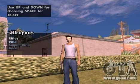 Weapon spawner para GTA San Andreas segunda pantalla