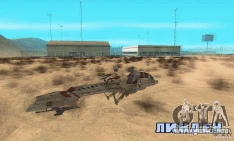 Star Wars speedbike para la visión correcta GTA San Andreas