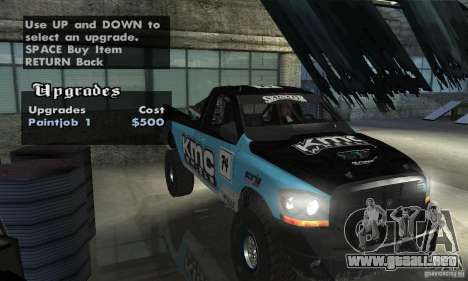 Dodge Power Wagon Paintjobs Pack 2 para GTA San Andreas vista hacia atrás