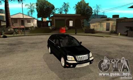 Chrysler Pacifica para GTA San Andreas vista hacia atrás