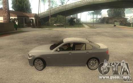 BMW 550i F10 para GTA San Andreas left