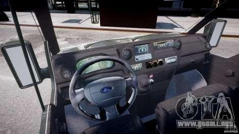 Ford Transit Pickup 2008 para GTA 4 visión correcta