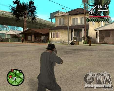 Famas de CoD Black Ops para GTA San Andreas segunda pantalla