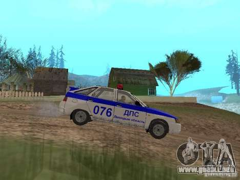 VAZ 21124 DPS para GTA San Andreas left