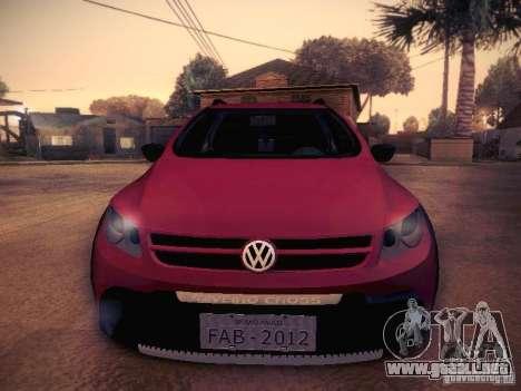 Volkswagen Saveiro Cross para visión interna GTA San Andreas