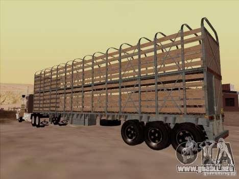 Trailer de Mack RoadTrain para GTA San Andreas vista posterior izquierda