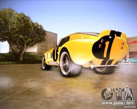 Shelby Cobra Daytona Coupe 1965 para GTA San Andreas vista posterior izquierda