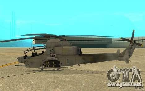 Cobra para GTA San Andreas vista posterior izquierda