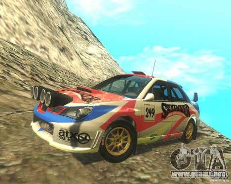 Subaru Impreza WRX STI DIRT 2 para vista inferior GTA San Andreas