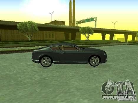 Bentley Continental GT 2010 V1.0 para la visión correcta GTA San Andreas
