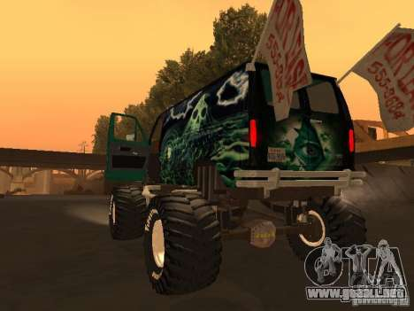 Ford Grave Digger para GTA San Andreas left