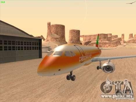 Sukhoi Superjet-100 para visión interna GTA San Andreas