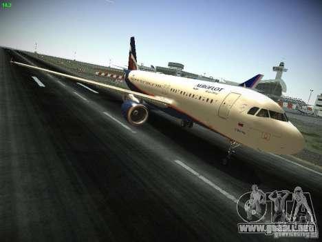 Aeroflot Russian Airlines Airbus A320 para visión interna GTA San Andreas