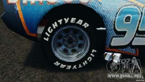Lightning McQueen Dinoco para GTA 4 vista hacia atrás