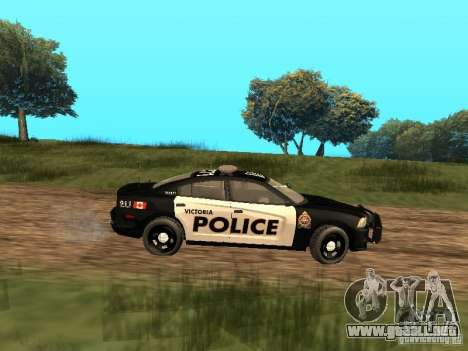 Dodge Charger Canadian Victoria Police 2011 para GTA San Andreas vista posterior izquierda
