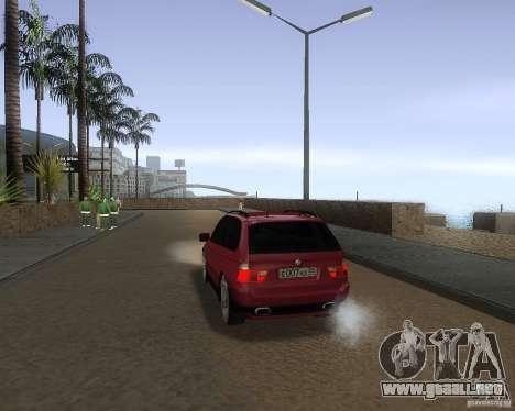 BMW X5 Sport Tun para GTA San Andreas vista posterior izquierda