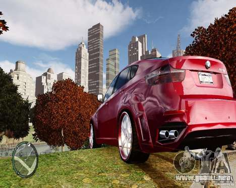 BMW X6M Lumma para GTA 4 visión correcta