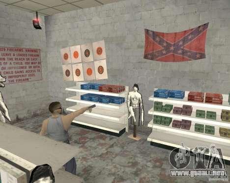 Una bulliciosa tienda Ammu-Nation v3 (Final) para GTA San Andreas quinta pantalla