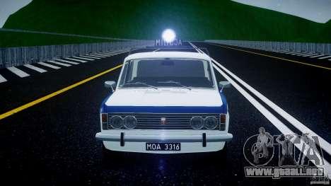 Fiat 125p Polski Milicja para GTA 4 vista desde abajo