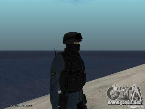 Oficial de policía antidisturbios para GTA San Andreas segunda pantalla