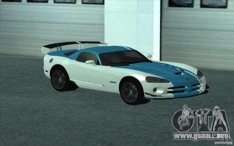 Dodge Viper SRT10 ACR para GTA San Andreas