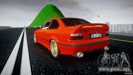 BMW E36 Alpina B8 para GTA 4 Vista posterior izquierda