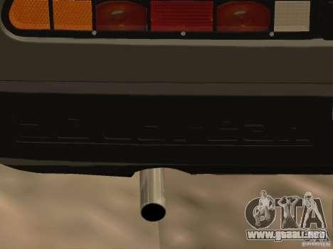 DeLorean DMC-12 para visión interna GTA San Andreas