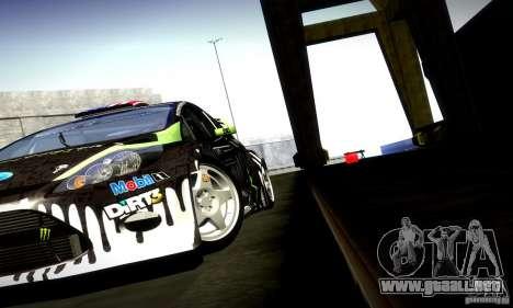 Ford Fiesta Gymkhana 4 para visión interna GTA San Andreas