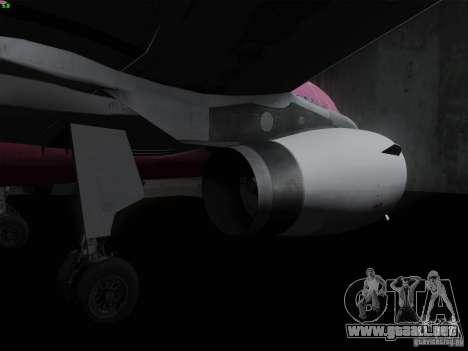 Airbus A319 Spirit of T-Mobile para GTA San Andreas vista hacia atrás