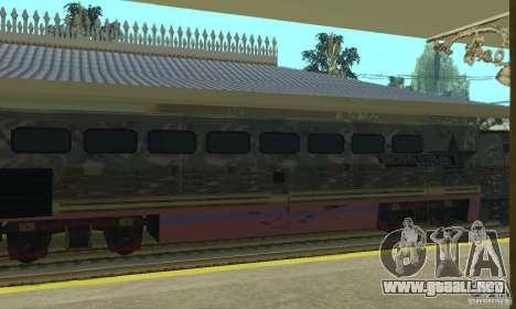 Tren de Camo para GTA San Andreas vista posterior izquierda