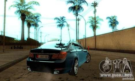 BMW 750Li para visión interna GTA San Andreas