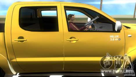 Toyota Hilux SRV 4x4 para GTA Vice City vista posterior