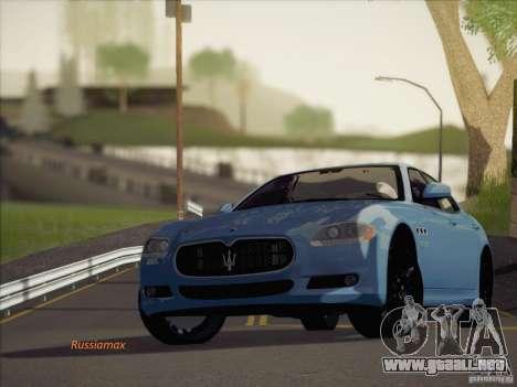Maserati Quattroporte v3.0 para GTA San Andreas