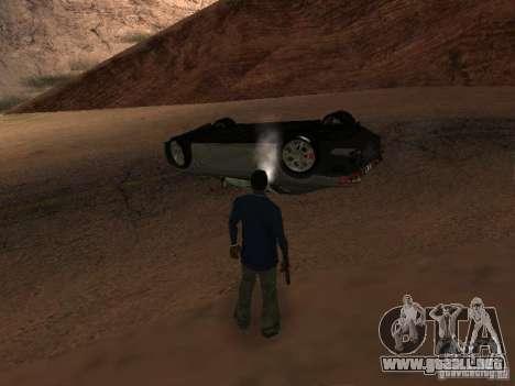 No te quemes coches volcados para GTA San Andreas sexta pantalla