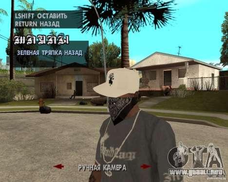 Hip-Hop caps para GTA San Andreas tercera pantalla