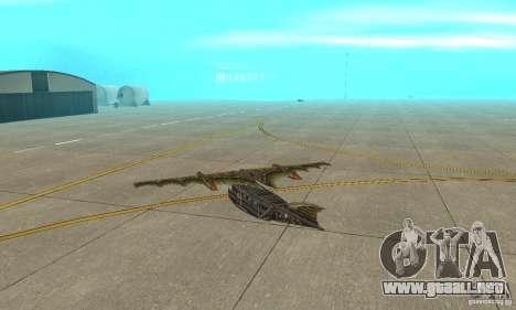 Muy lindo avión de TimeShift para la visión correcta GTA San Andreas
