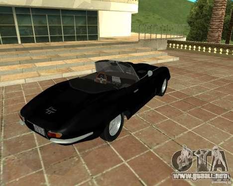 Jaguar E-Type 1963 para GTA San Andreas vista posterior izquierda