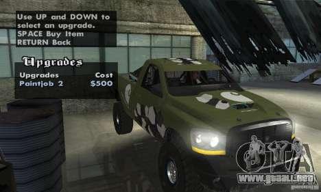 Dodge Power Wagon Paintjobs Pack 1 para la visión correcta GTA San Andreas