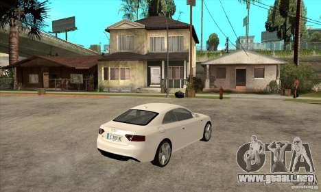 Audi S5 2008 para la visión correcta GTA San Andreas