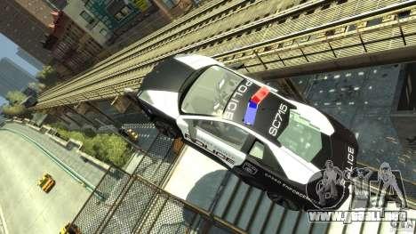 Lamborghini Reventon Police Hot Pursuit para GTA 4 vista interior