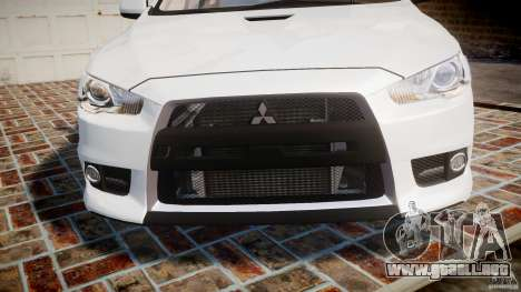 Mitsubishi Lancer Evolution X para GTA 4 vista lateral