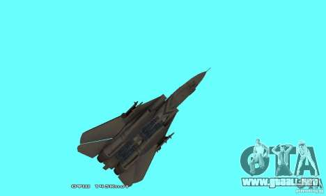 F14W Super Weirdest Tomcat Skin 1 para vista inferior GTA San Andreas