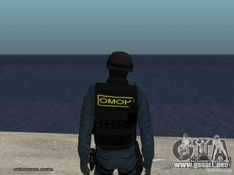 Oficial de policía antidisturbios para GTA San Andreas quinta pantalla