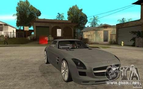 Mercedes-Benz SLS para GTA San Andreas vista hacia atrás
