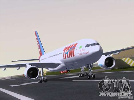 Airbus A330-223 TAM Airlines para GTA San Andreas left