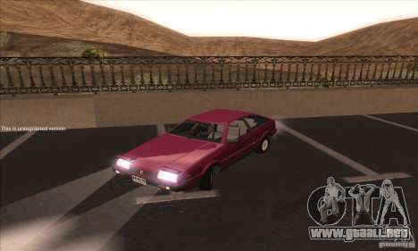 Isuzu Piazza para GTA San Andreas left