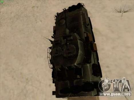 LAV-25 para GTA San Andreas vista hacia atrás