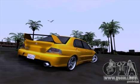 Mitsubishi Lancer Evolution IX 2006 para visión interna GTA San Andreas