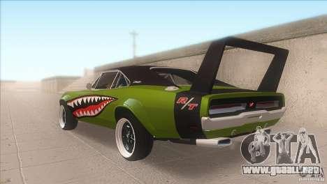 Dodge Charger RT SharkWide para GTA San Andreas vista posterior izquierda
