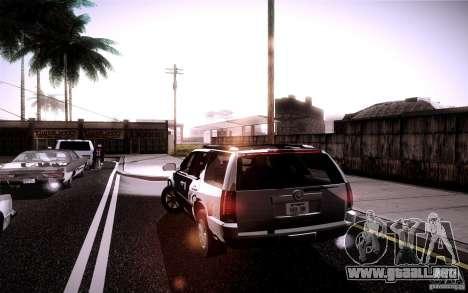Cadillac Escalade para GTA San Andreas vista posterior izquierda